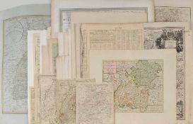 """Landkarten, 28 Stück """"Schwaben und Baden-Württemberg""""versch. Techniken u. Größen, 17.-19. Jh.,"""