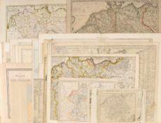 Landkarten, ca. 30 Stückversch. Techniken u. Größen, 17.-19. Jh.