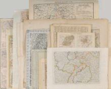 """Landkarten, ca. 20 Stück """"Baden, Oberrhein, Süddeutschland""""versch. Techniken u. Größen, 17.-19. Jh."""
