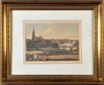 Ulm, GesamtansichtHolzstich, handcolor., 23 x 31,5 cm, nach einer Fotografie von Carl Herrlinger,