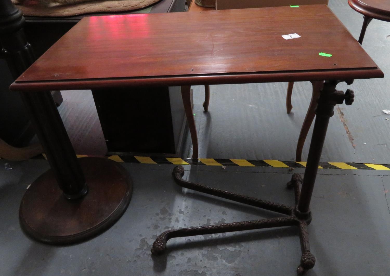 Lot 7 - Invalid adjustable Victorian bed tray