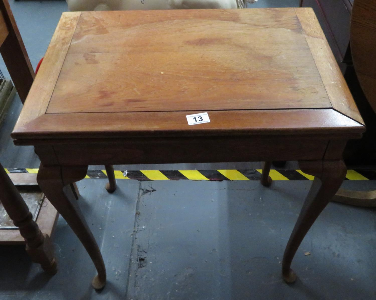 Lot 13 - Flip top card table