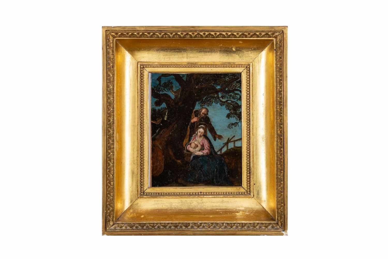 "Lot 144 - ""Maria lactans""Maler des 18. Jhdts., ""Maria lactans"", Öl auf Kupfer, Maße: 37 x 34 cm""Maria"
