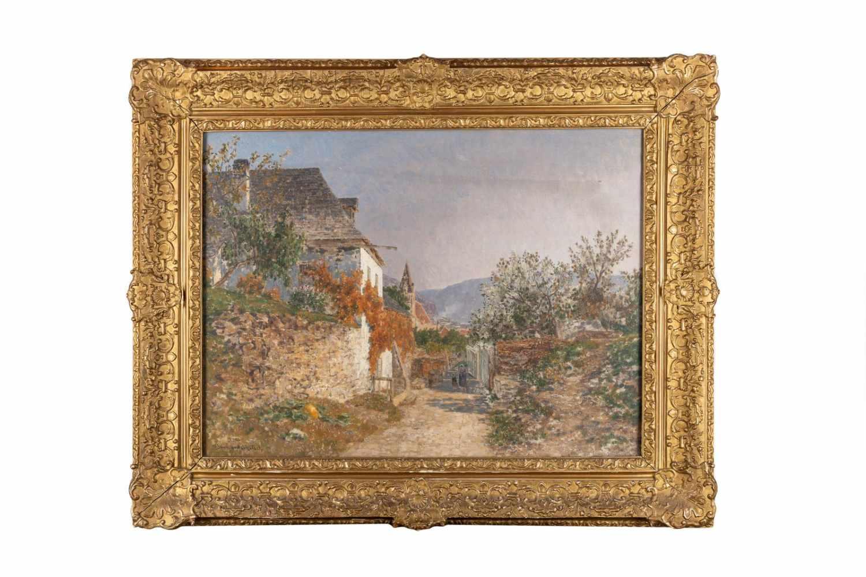 """Lot 164 - Max Suppantschitsch, """"Sommerliche Partie bei Weißenkirchen""""Maximilian Suppantschitsch (1845-1953),"""