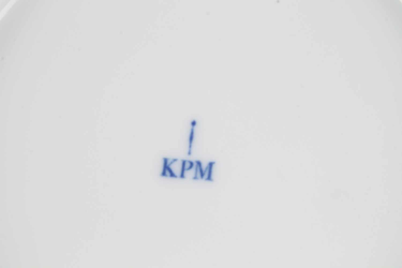 Lot 34 - KPM Berlin Kurland Speiseservice für 3 Personen 11-teilig, Königliche Porzellanmanufaktur Berlin,