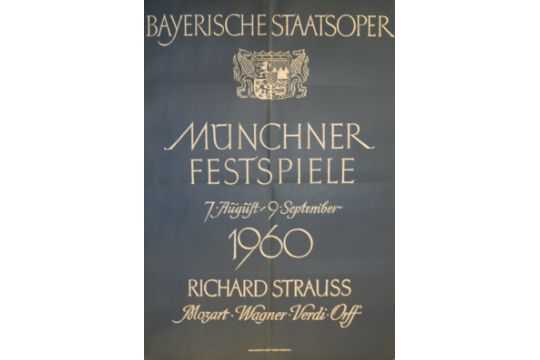 Advertising Posters Munich Opera Festival 1960  Original vintage