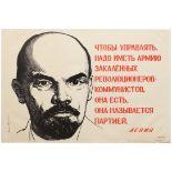 Propaganda Poster Lenin Communist Party USSR