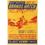 Sport Poster Brands Hatch Car Racing October 1955 Formula 3