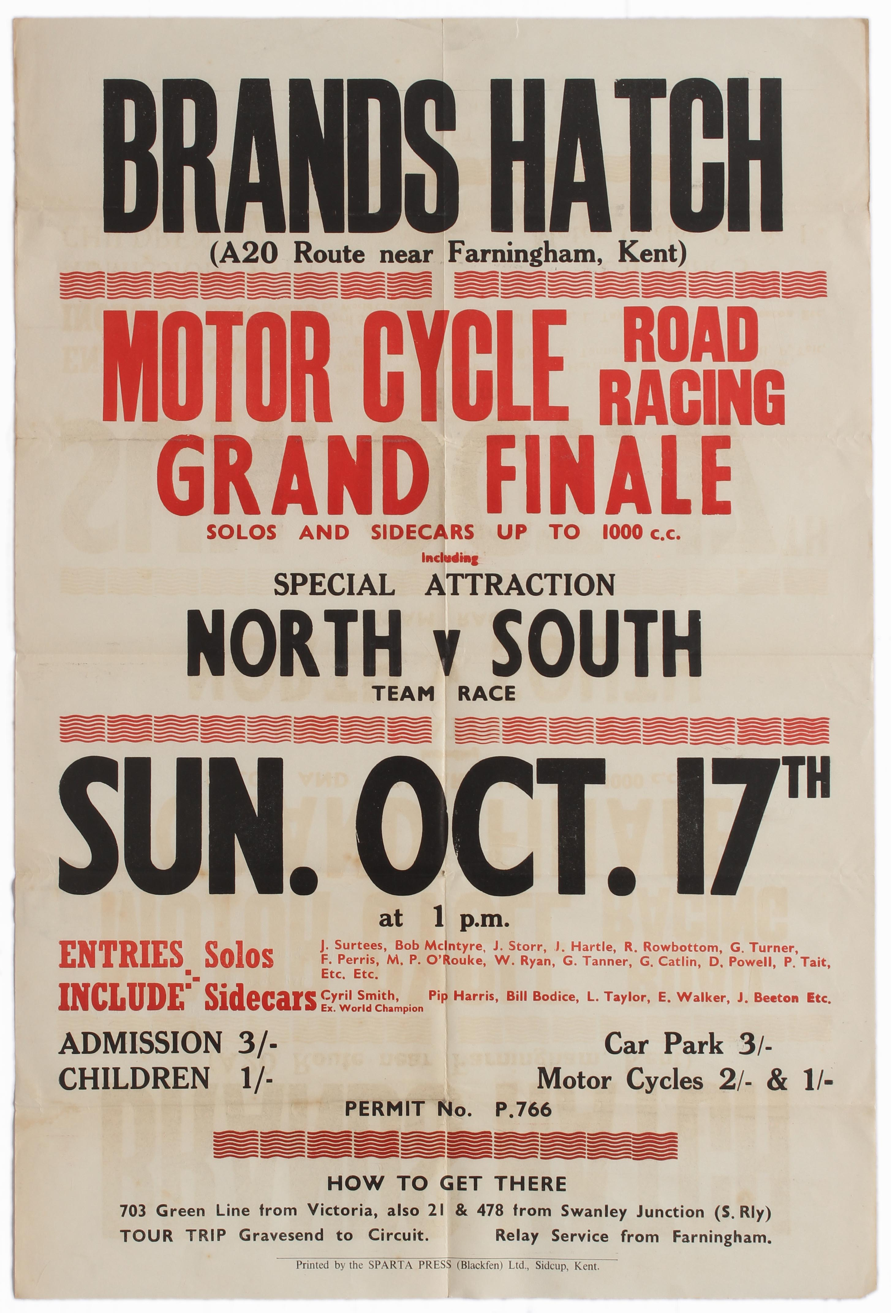 Sport Poster Brands Hatch Motorcycle Road Racing Grand Finale