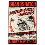 Sport Poster Brands Hatch Motorcycle Road Race Meeting Derek Minter