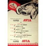 Sport Poster Super Avia Car Racing 1500cc