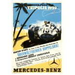 Car Racing Poster Tripolis Grand Prix 1939 Mercedes