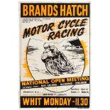Sport Poster Brands Hatch Motorcycle Racing National Open Meeting