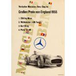 Sport Poster Mercedes Benz British Grand Prix Formula 1 Stirling Moss