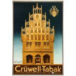 Advertising Poster Cruwell Tabak Tobacco Smoking