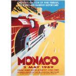 Advertising Posters Monaco Art Deco Ferrari Alfa Romeo