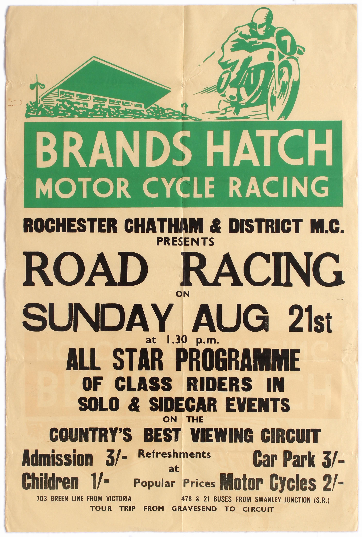 Sport Poster Brands Hatch Motorcycle Racing 1955