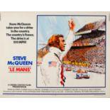 Cinema Poster Le Mans Steve McQueen Porsche Ferrari