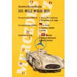 Sport Poster Mercedes Benz Mille Miglia 1955 300SLR 300SL Moss Fangio