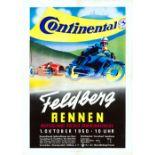 Sport Poster Car Motorcycle Hill Climb Race Feldbergrennen 1950 Audi