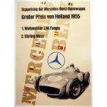 Sport Poster Mercedes Benz Holland Grand Prix Formula One 1955