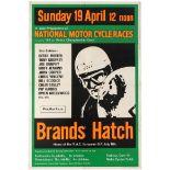 Sport Poster National Motorcycle Racing Brands Hatch Derek Minter 1964