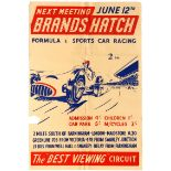 Sport Poster Brands Hatch Formula 3 Sports Car Racing 1955