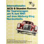 Sport Poster International ACS 6 Car Race Mercedes Nurburgring