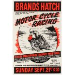 Sport Poster Brands Hatch Racing Fred Mockford Trophy Meeting