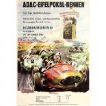 Sport Poster ADAC Eifelpokal Nurburgring 1963 Car Racing