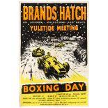 Sport Poster Brands Hatch Yuletide Meeting Car Racing Formula 3
