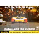 Sport Poster Nurburgring 1000km Car Race ADAC Porsche Ferrari