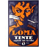 Advertising Poster Swiss Art Deco Loma Inks German