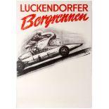 Sport Poster Luckendorfer Hill Climb Auto Moto Racing Germany