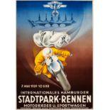 Sport Poster Hamburg Stadtpark NSKK Third Reich BMW 328
