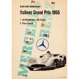 Sport Poster Mercedes Benz Italian Grand Prix 1955 Monza Formula 1