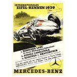Car Racing Poster Eifel Rennen 1939 Mercedes Benz Nazi