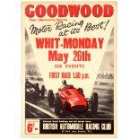 Sport Poster BARC Goodwood Car Motor Racing Six Events