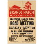 Sport Poster Brands Hatch Motorcycle Racing September 1955