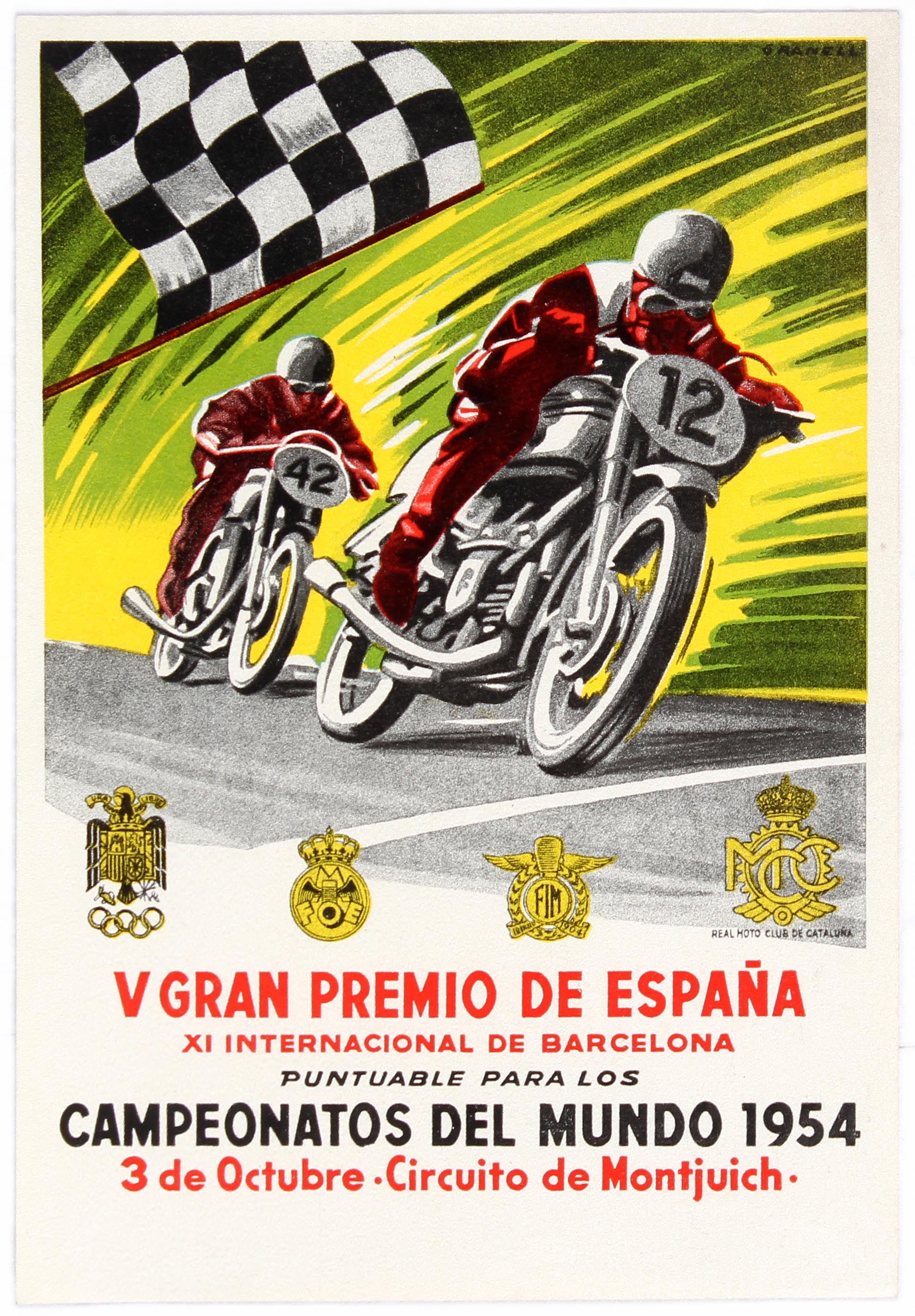 Sport Motorcycle Racing Spain Grand Prix Montjuich