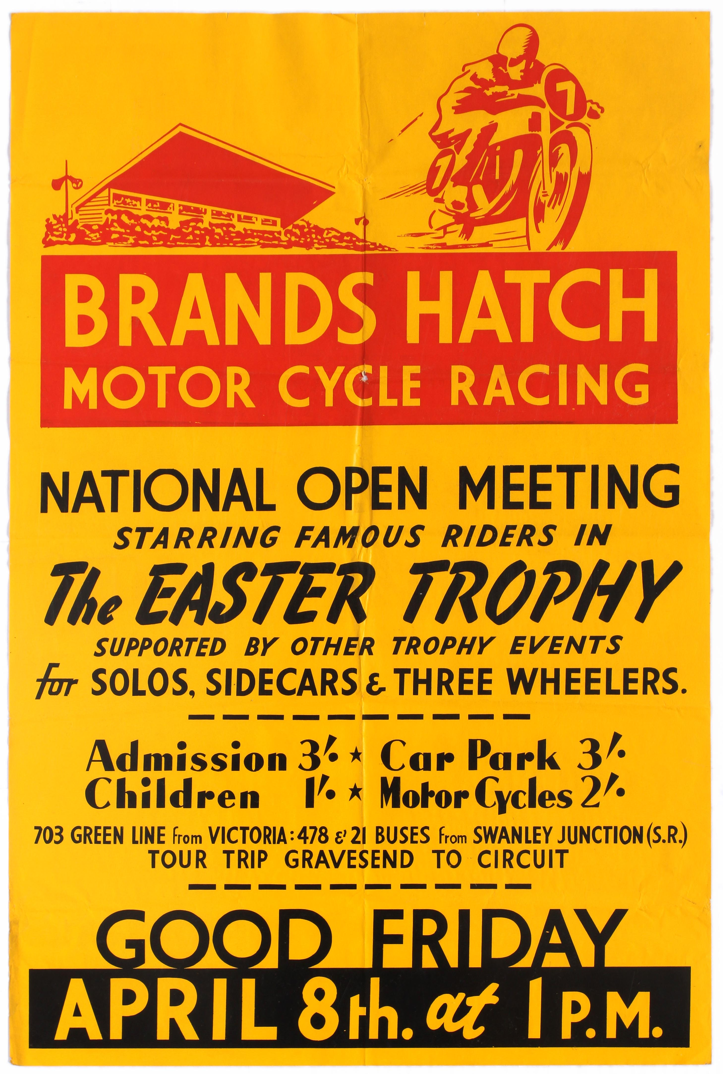 Sport Poster Brands Hatch Motorcycle Road Racing The Easter Trophy