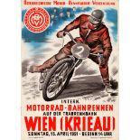 Sport Poster International Motorcycle Track Racing Vienna