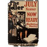 Advertising Poster The Idler Magazine Pipe Smoking 1898
