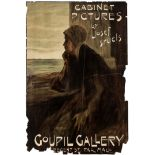 Advertising Poster Josef Israel Exhibition Coupil Gallery