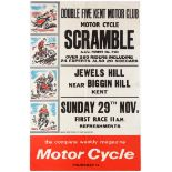 Sport Poster Motorcycle Scramble Racing Double Five Kent Motor Club