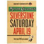 Sport Poster Motorcycle Racing Silverstone Grand Prix FIM