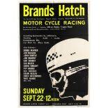 Sport Poster Brands Hatch Motorcycle Racing Derek Minter 1963