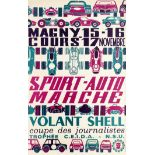 Sport Poster Magny Cours Motor Racing Volant Shell France Midcentury Modern