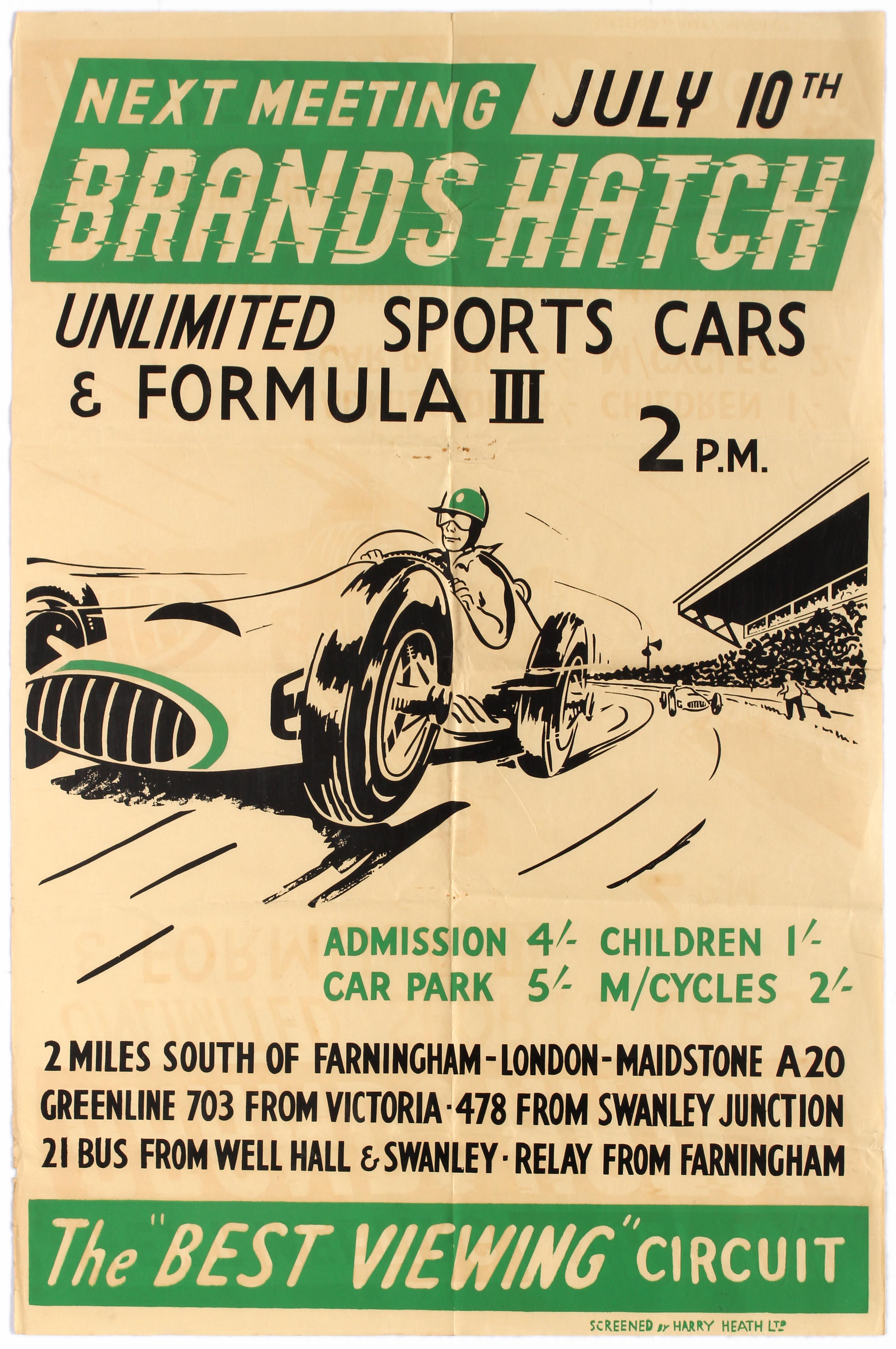 Sport Poster Brands Hatch Unlimited Sports Car Racing Formula 3