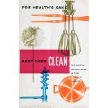 Propaganda Poster Kitchen Utensils Keep Them Clean Ministry of Health